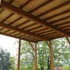 KRAP 32, červenec 2103 - bednění střechy altánu