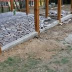 Altán - práce podlaze, únor 2014